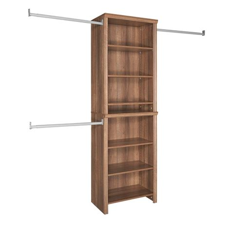 Closetmaid Closet Kit by Closetmaid Impressions 25 In Walnut Standard Closet Kit