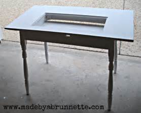 Machine Table by Sewing Machine Made By A Brunnette