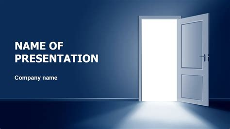 Open Door Powerpoint Template Background For Unlock Powerpoint Template