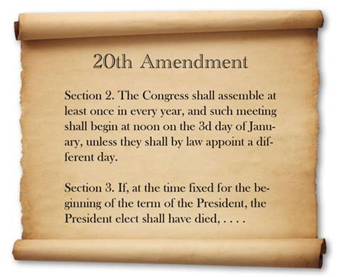what is a section 20 20th amendment 2