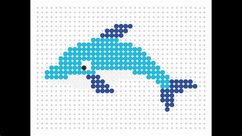 dolphin bead patterns hama bead dolphin sea series 4