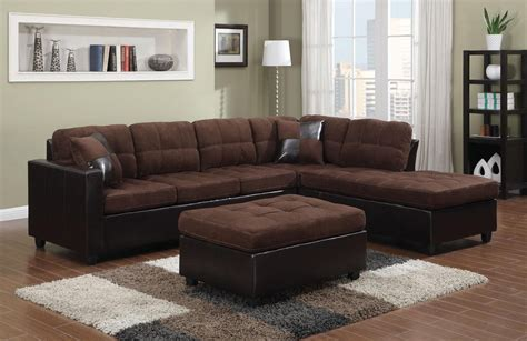 brown sectional with ottoman coaster mallory 505655 brown fabric sectional sofa steal