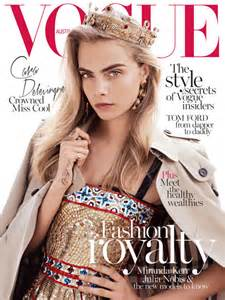 cara delevingne wears the crown for vogue australia s