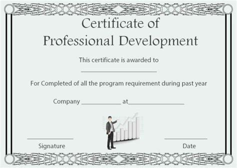 professional development certificate template certificate of completion 22 templates in word format