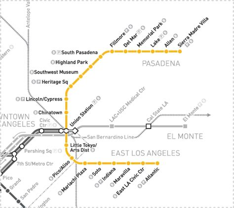 metro gold line map go metro to the tournament of roses and the bowl the source