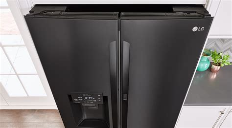 matte black appliances lg matte black stainless steel embrace the dark side lg us
