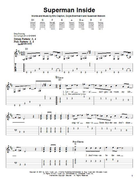 strumming pattern for you look wonderful tonight eric clapton superman inside sheet music