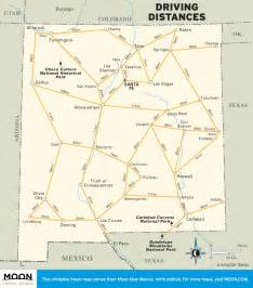 us map and driving distances travel map showing driving distances in new mexico