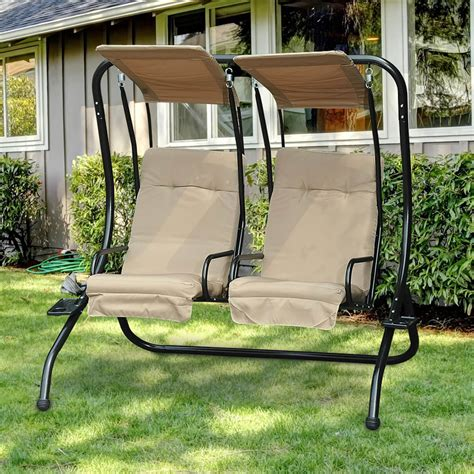 swing napoli sunjoy napoli 2 seat patio swing