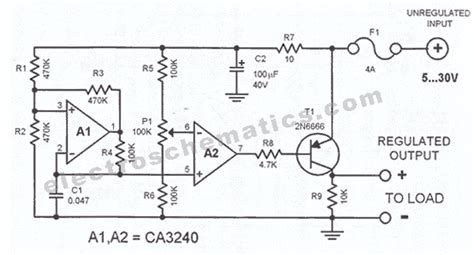 automobile voltage regulator circuit diagram circuit and