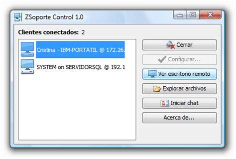 programa escritorio remoto gratis zsoporte es un programa de control y escritorio remoto