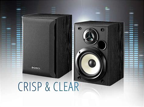 refurbished sony ss b1000 120w bookshelf speakers pair