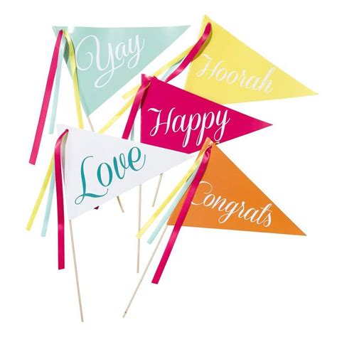 Happy Set Of 10 set of 10 be happy flags by and willow