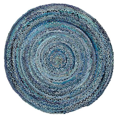 blue circular rug rugs blue braided rug the land of nod