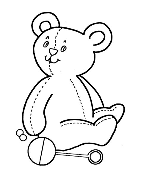 simple bear coloring page simple shapes coloring pages free printable simple