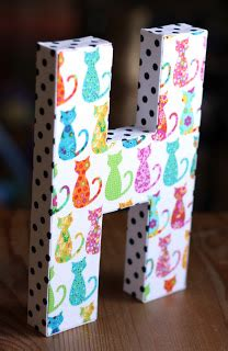 but lightly here how to cover a wooden letter with fabric