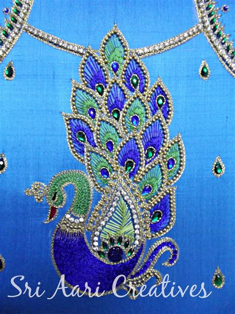design patterns for embroidery zardosi work 2009 1000 images about peacock blouses on pinterest