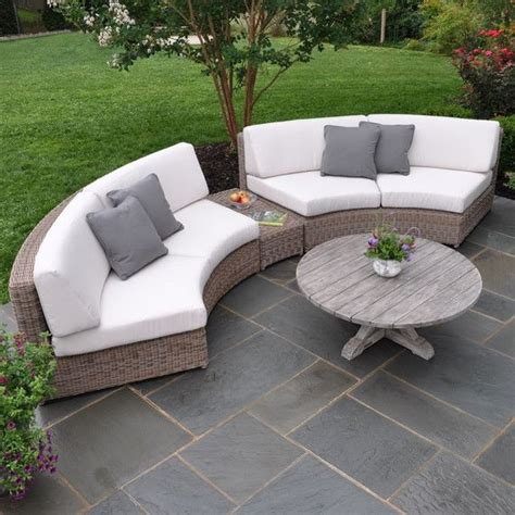 Curved Rattan Sofa Kontiki Conversation Sets Wicker Sofa