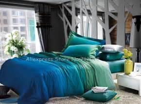 blue bed linen sets premium cotton reversible duvet quilt covers turquoise