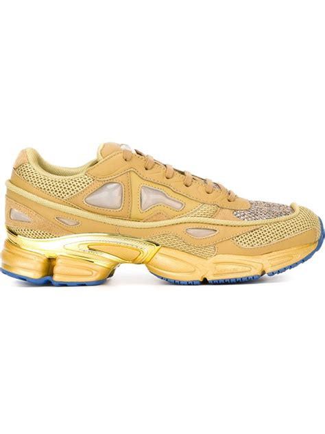 adidas by raf simons ozweego 2 leather and mesh sneakers in for lyst
