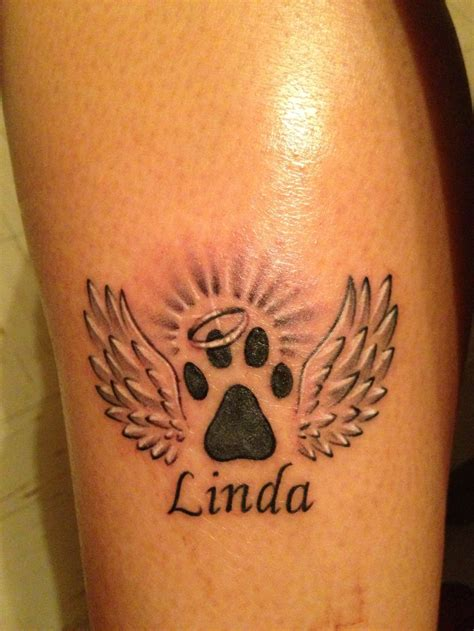 dog memorial tattoo in memory of my