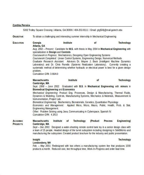 Resume Format For Engineering Students Doc engineering resume template 32 free word documents
