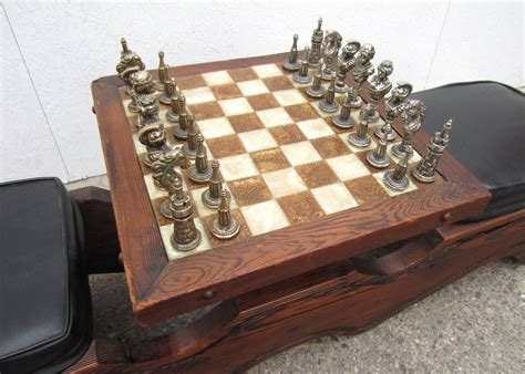 modern chess table mid century modern witco sculpted sw cedar chess table