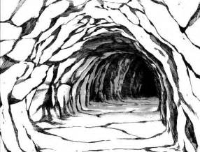 cave entrance drawing sketch coloring page