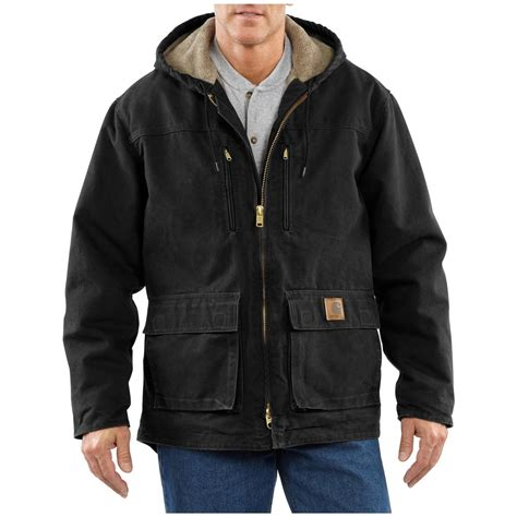 carhartt coat carhartt 174 sherpa lined sandstone jackson coat 174299 insulated jackets coats