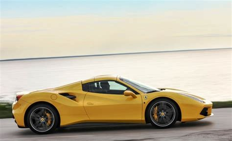 yellow side yellow 488 spider side view image car pictures