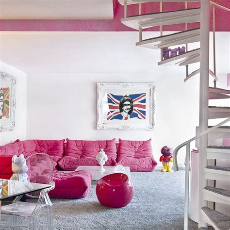 Pink Sofa Living Room White Living Room Pink Sofas Housetohome Co Uk
