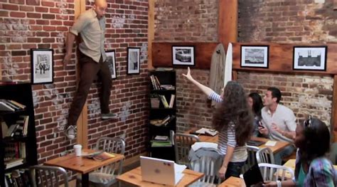 special design coffee shop horror movie prank shocks coffee shop customers goes