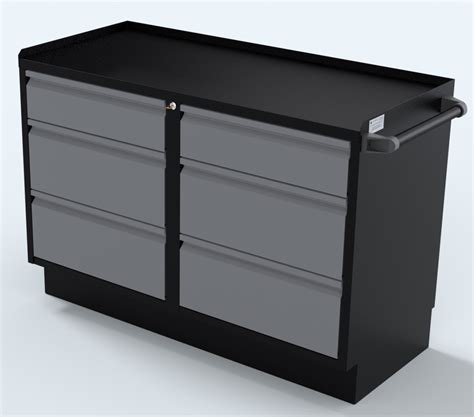 silver 48 inch 2 sets of 3 drawers professional grade base