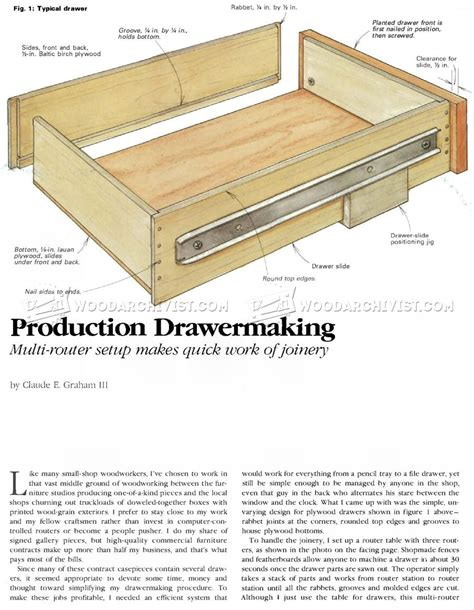 Dresser Drawer Construction by Drawer Construction Jig Woodarchivist
