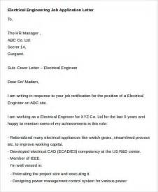 Application Letter For Electrical Engineer Pdf 37 Job Application Letter Templates Free Amp Premium