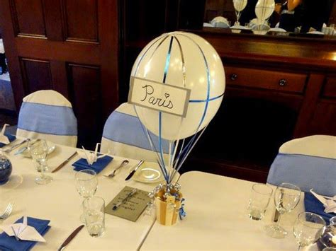 travel themed table decorations diy diy pinterest cicy guimond the blog diy air balloon centerpieces for