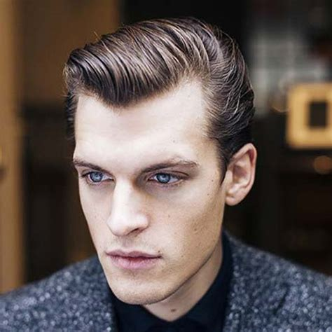 Mens Crown Thinning Brush Back | hairstyles for balding men