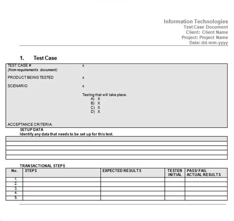 test case template 9 download free documents in pdf