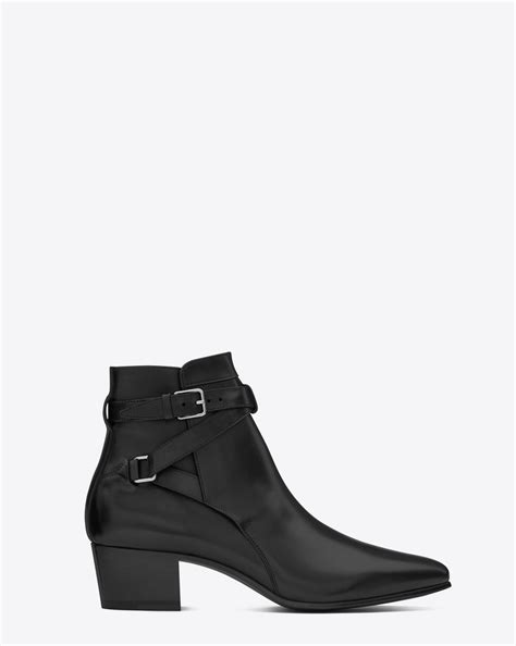ysl boots laurent signature 40 jodhpur ankle boot in