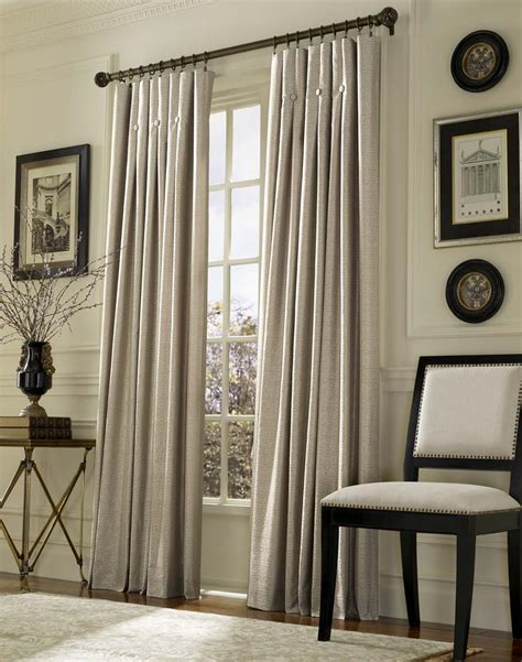 Living Room Curtains | inverted pleat drapes that will smarten your window