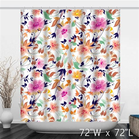 hand painted shower curtain hand painted flower floral shower curtain custom shower