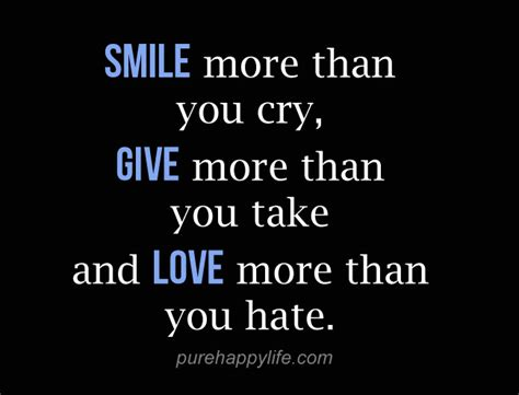Enjoy More Than by Quote Smile Cry