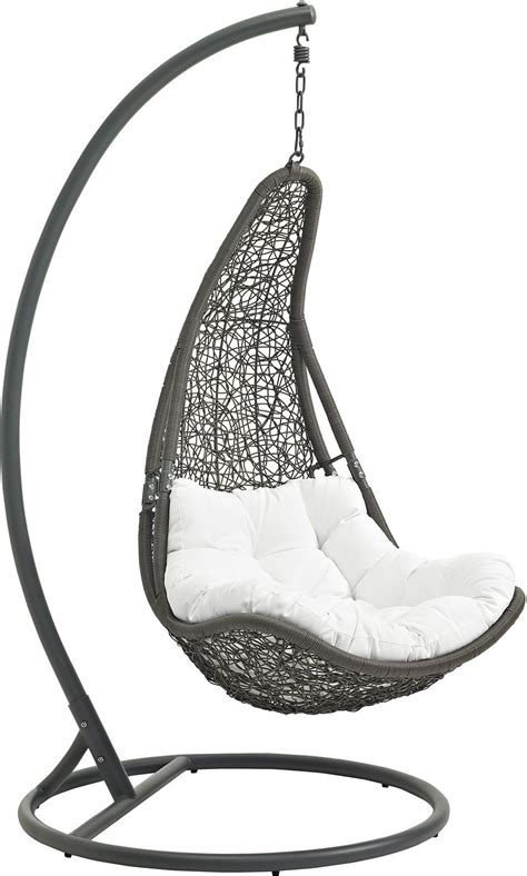 patio swing chair with stand abate gray white outdoor patio swing chair with stand eei