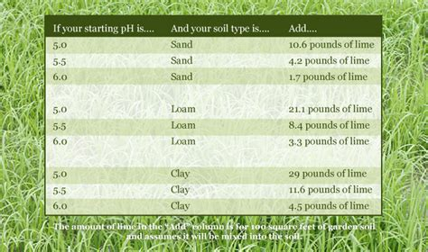 How Much Fertilizer To Use In Vegetable Garden Liming Chart
