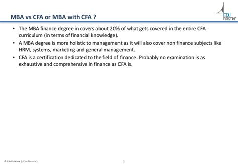 Cfa Vs Mba In India by Cfa Vs Frm