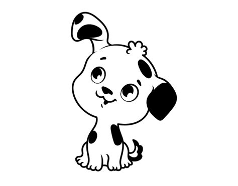 dibujos de perros para colorear dibujosnet dibujo de cachorrito de perro para colorear dibujos net