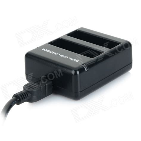 Charger Gopro 4 dual usb battery charger w charging cable eu charger for gopro 4 black free