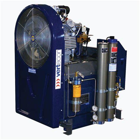 Compressor Bauer vertecon breathing air system design