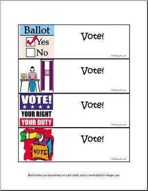 Printable Election Bookmarks | bookmarks elections teaching ideas pinterest
