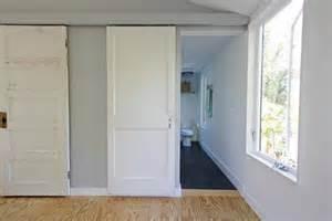 Sliding Closet Doors Ideas Simple White Sliding Bathroom Door For Minimalist Interior Designs Home Decor